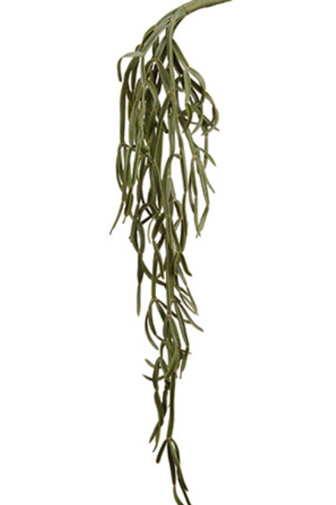 "Soft Plastic  Pencil Cactus Hanging Spray -29""Long"