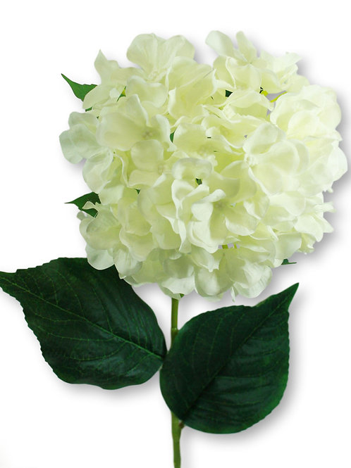 "Silk Cream Hydrangea Spray - 33"" Long"