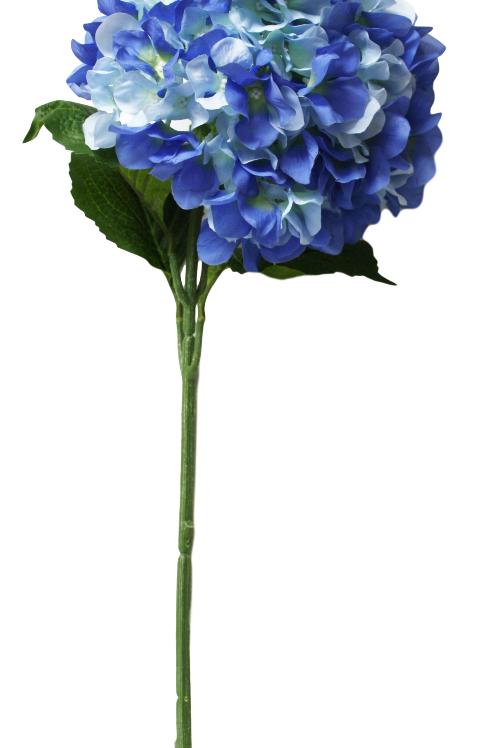 """Silk Blue Single Stem Hydrangea - 33"""" Long"""
