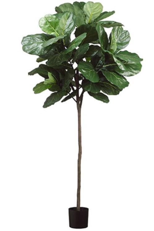 7' Artificial Fiddle Leaf Fig Tree in pot