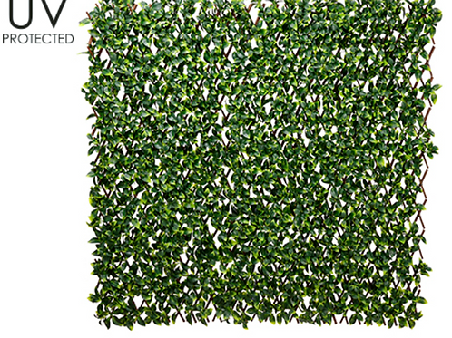 "UV Protected Artificial Gardenia Leaf Trellis -39.3""W x 78.7""L"