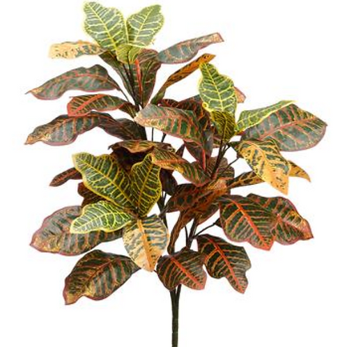 """26"""" Silk Croton Plant with 28 leaves"""
