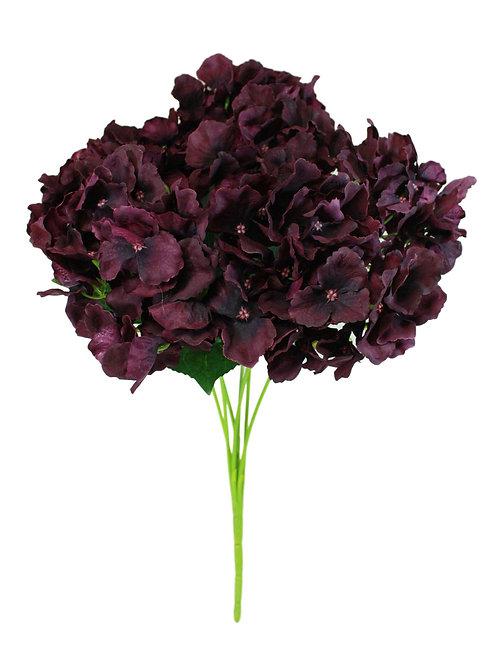 "Silk Hydrangea Bush x 7 -18"""