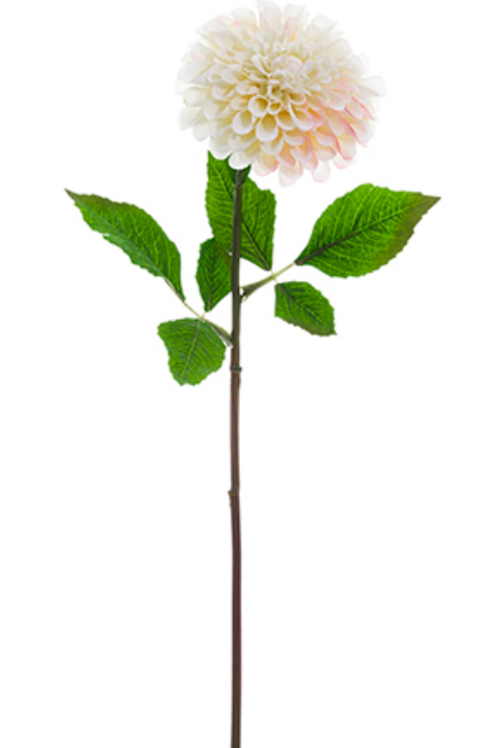"24"" Silk Dahlia Spray - White"