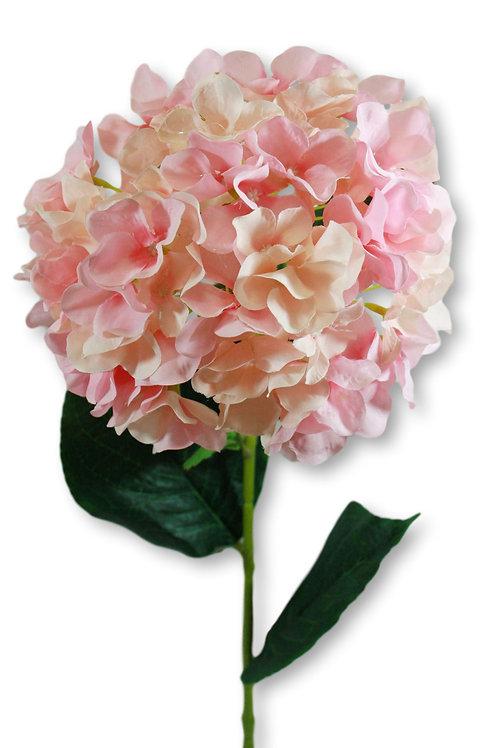 "Silk Pink Hydrangea Spray - 33"" Long"