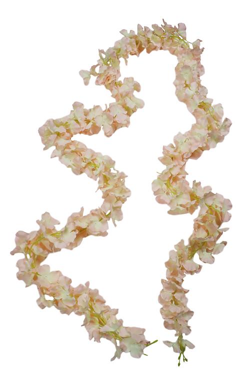 Blush Silk Hydrangea Flower Garland - 9' Long