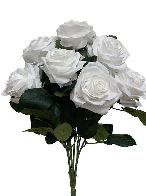 "18"" Open Rose Bush x10 (FB662-WHITE)"