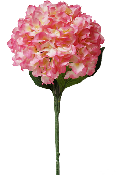 "Silk Pink Single Stem Hydrangea - 33"" Long"