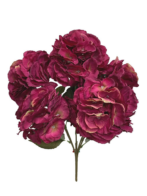 "23"" Hydrangea Bush X 5     (INT-052-Burgundy)"