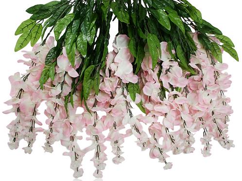 "Silk Wisteria Hanging Bush x 15 -36"""