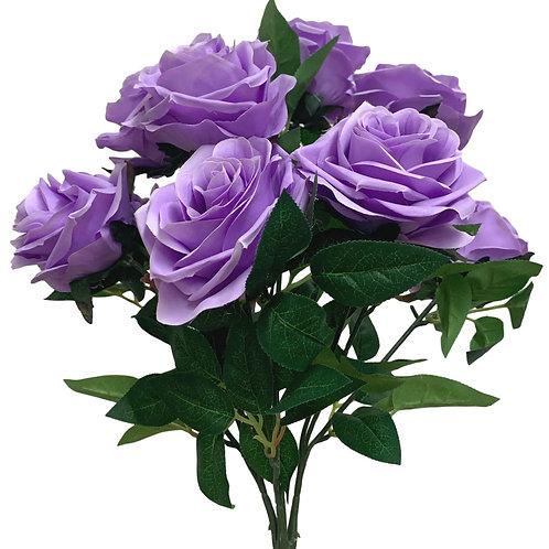 "18"" Open Rose Bush x10 (FB662-LAVENDER)"