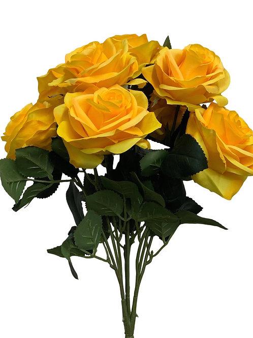 "18"" Open Rose Bush x10 (FB662-YELLOW)"