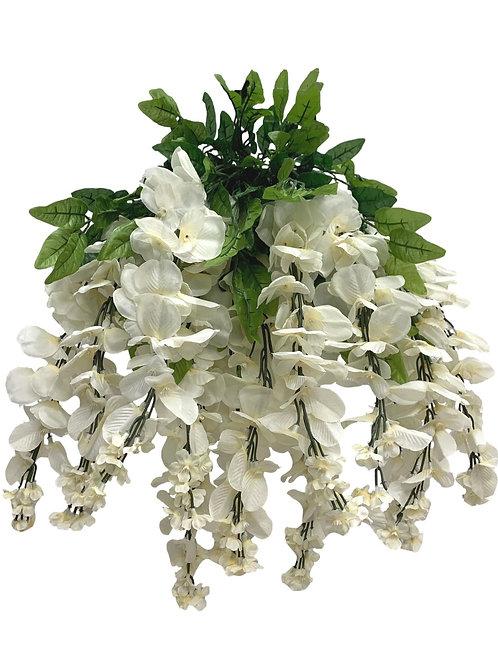 "35"" Wisteria Flower Hanging Bush X 13 (INT-587-13-BEIGE)"