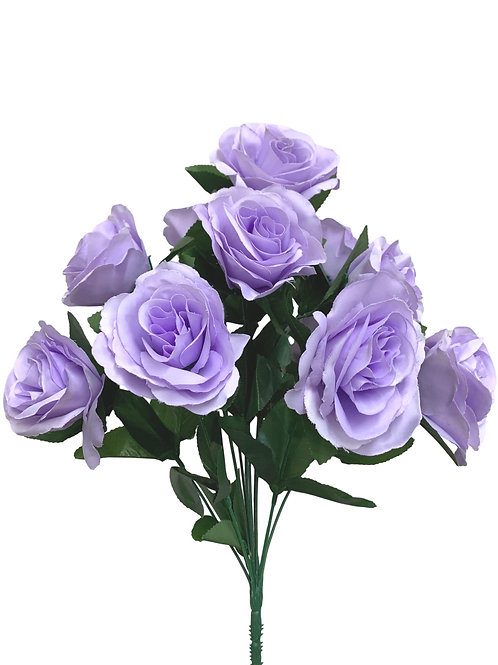 "17"" Satin Rose Bush x 12 (INT398-Lavender)"