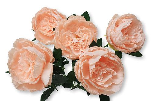 """20"""" Silk Peony Bush With 5 Flowers"""