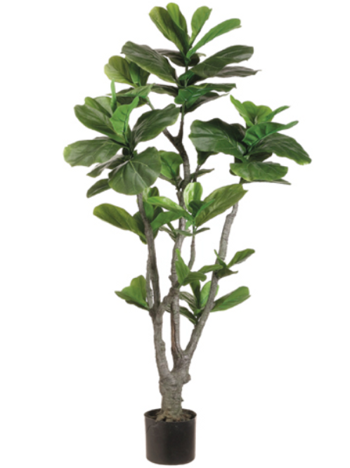Artificial Fiddle Leaf Fig Tree in pot - 4' Tall