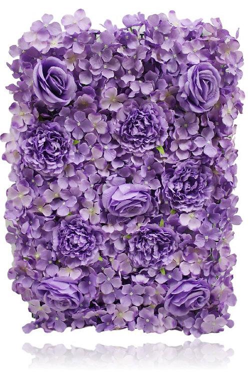 "Silk Rose Peony Hydrangea Flower Mat - 17"" H X 25"" W"