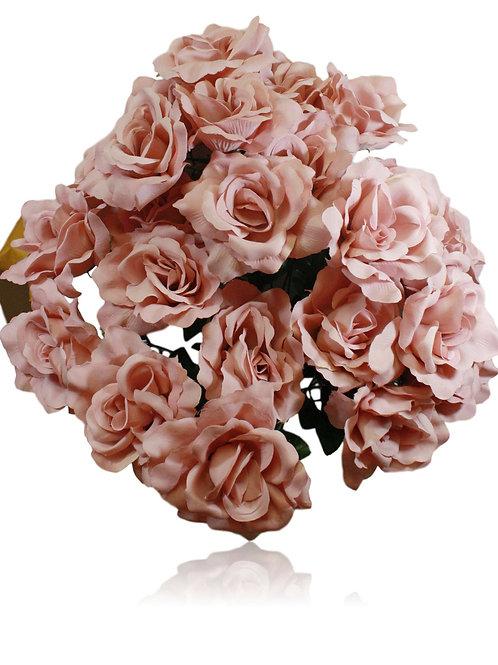 "Mauve Silk Rose Bush x 24 -24"" Long"