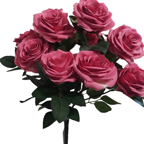Silk Rose Bush x 10 - 18""