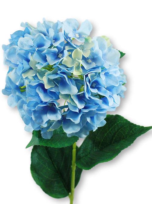 "Silk Blue Hydrangea Spray - 33"" Long"