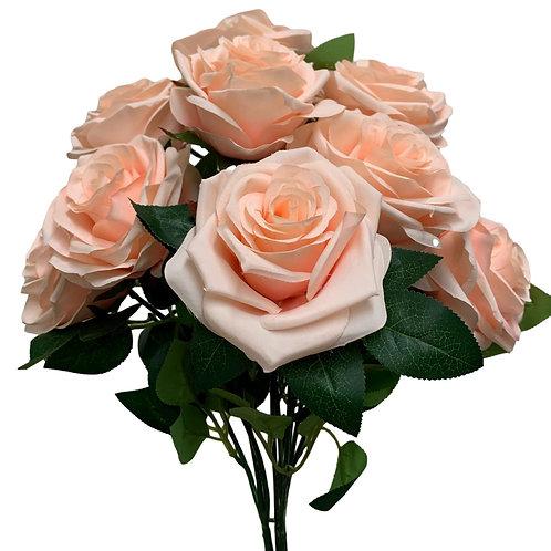 "18"" Open Rose Bush x10 (FB662-BLUSH PINK)"