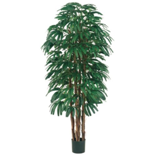 Artificial Rhapis Tree in pot - 6' Tall