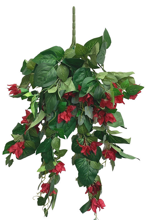 """31"""" Hanging Bougainvillea (INT-6331-RED)"""