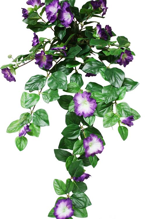 "Silk Petunia Flower Hanging Bush-32"" Long"