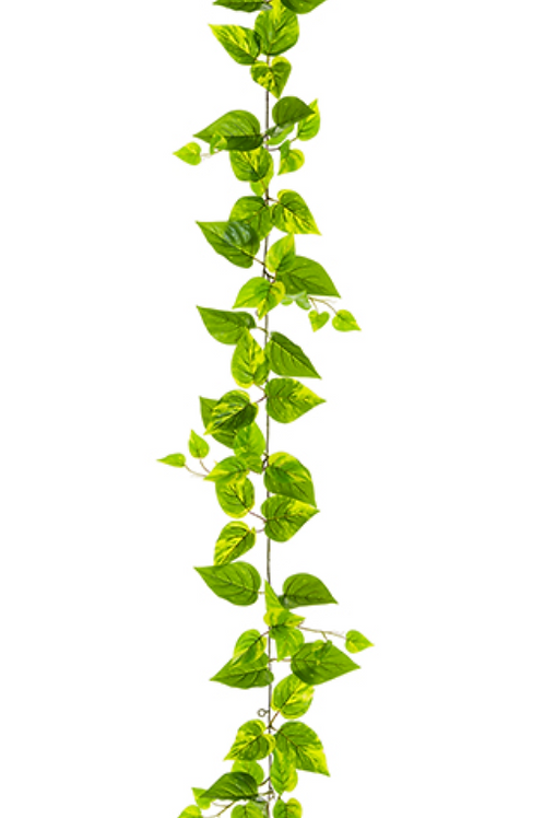 5' UV Protected PVC Pothos Leaf Garland