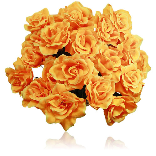 "Yellow Silk Rose Bush x 24 -24"" Long"