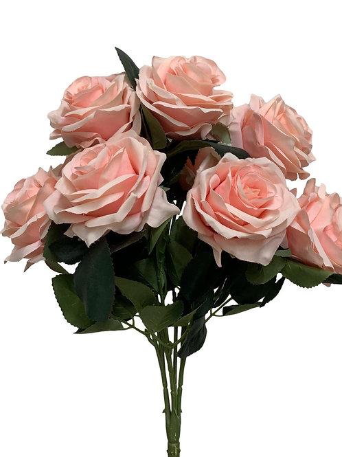 "18"" Open Rose Bush x10 (FB662-BLUSH)"