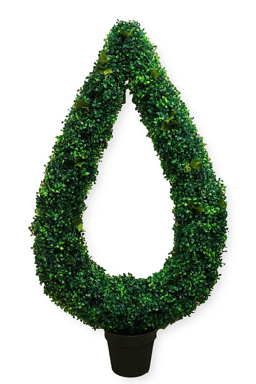 "49"" UV Protected Boxwood Ivy Topiary"