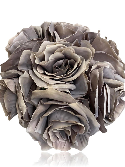 "12"" H x 7"" D Silk Ashley Rose Bouquet x 7"