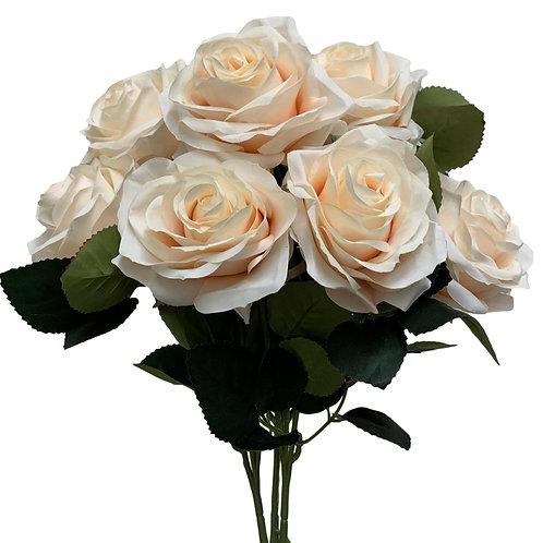 """18"""" Open Rose Bush x10 (FB662-BEIGE)"""