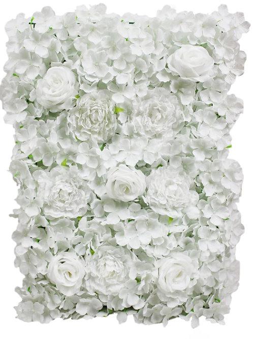 """Silk Rose Peony Hydrangea Flower Mat - 17"""" H X 25"""" D"""
