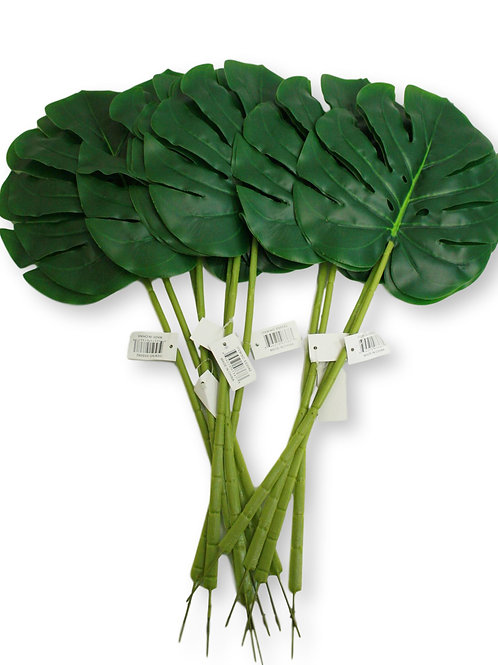 "22"" Real Touch Monstera Leaf/ dozen"