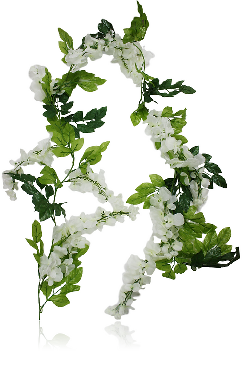 Wedding Silk Flower Leaf Garland - 6' Long
