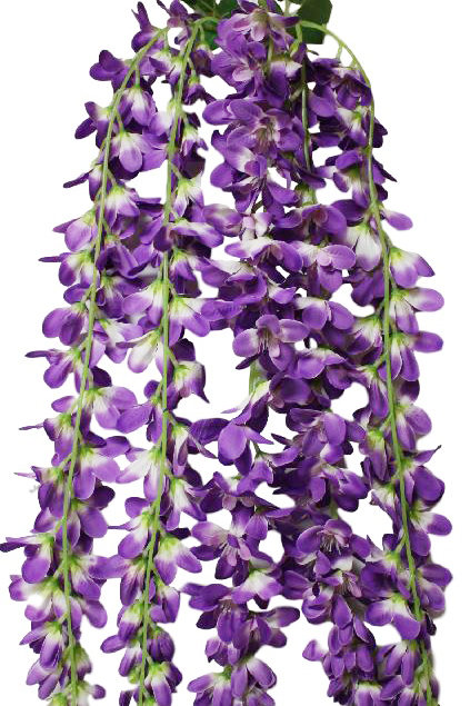 "Silk Foxtail Orchid Hanging Spray - 32"" Long"