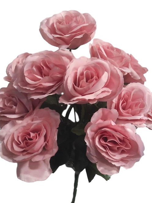 "17"" Lilian Satin Rose Bush x 12"