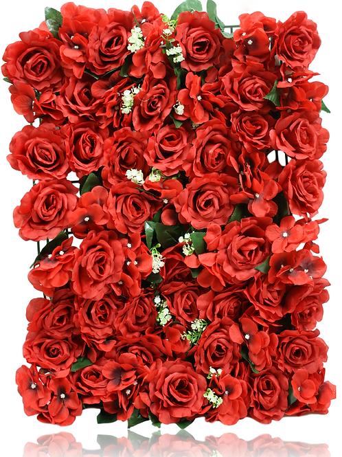"""Silk Hydrangea Rose Flower Mat - 26"""" x 17"""""""