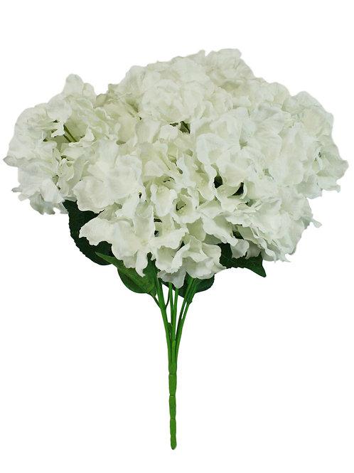 "Silk Hydrangea Bush x 7 - 18"""