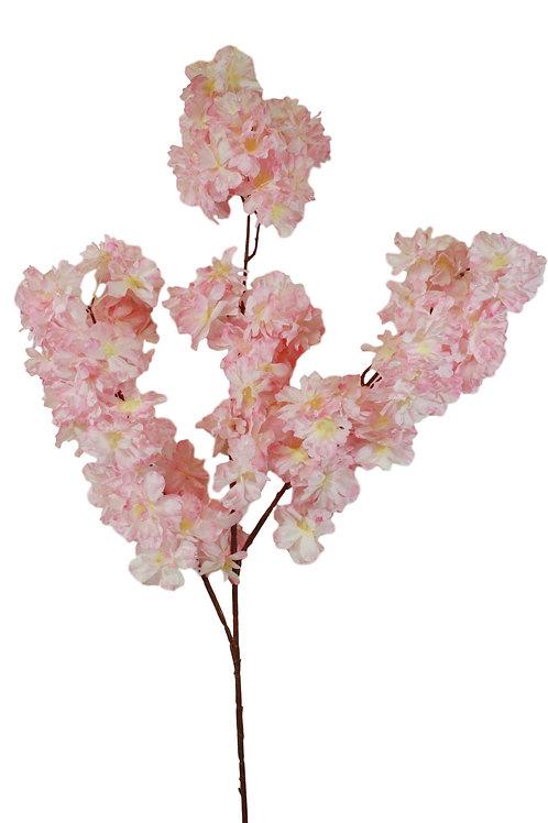 "42"" Silk Peach Blossom Spray - Cream Pink"