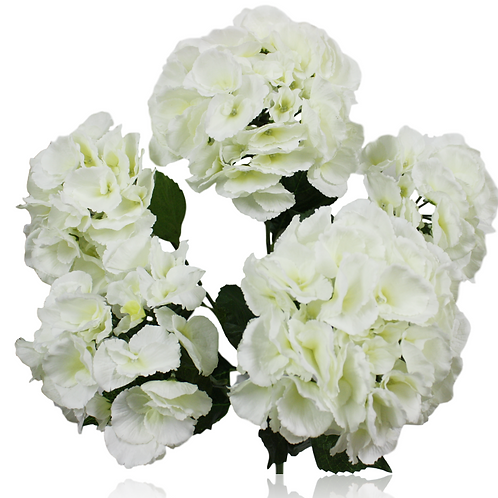 "19"" Silk Giant Hydrangea Bush x 5"
