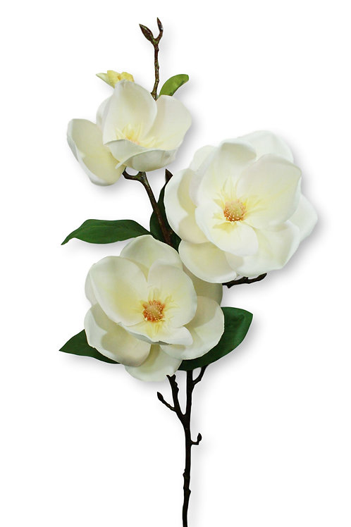Cream Silk Magnolia Flower Spray -2' Long