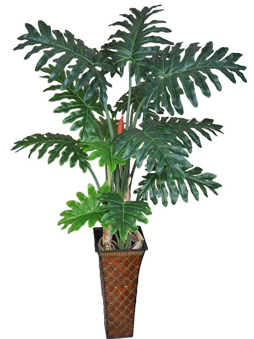 "51"" Real Touch Philodendron Tree with 13 Leaves"