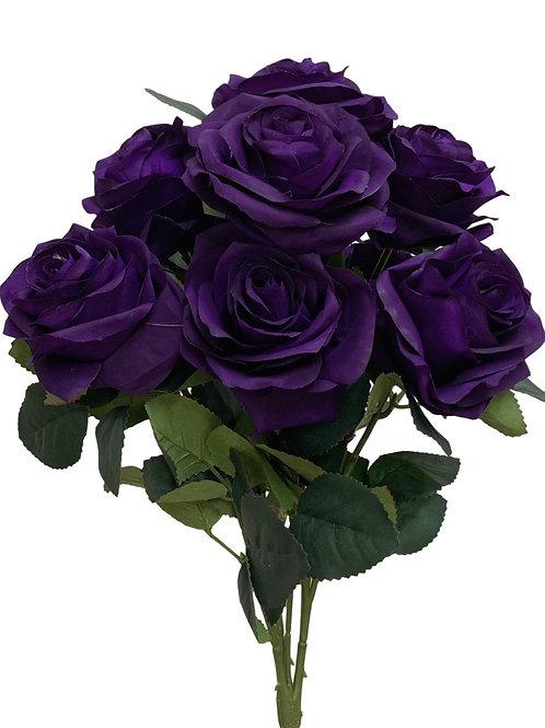 "18"" Open Rose Bush x10 (FB662-PURPLE)"