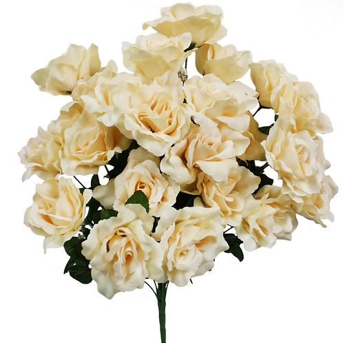 """Beige Silk Rose Bush x 24 - 24"""" Long"""