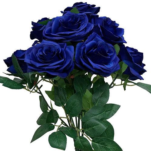 "18"" Open Rose Bush x10 (FB662-ROYAL BLUE)"