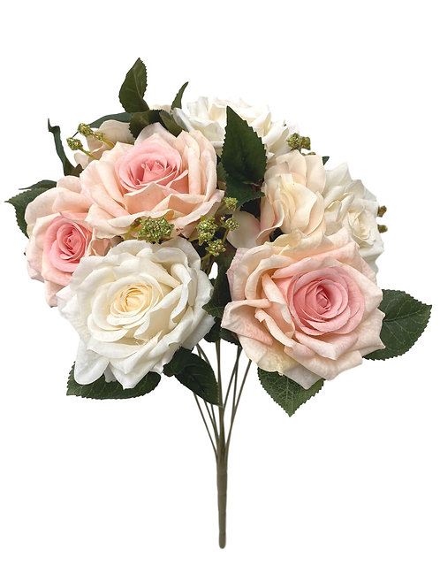 "16"" Silk Rose Bush with 6 Roses"