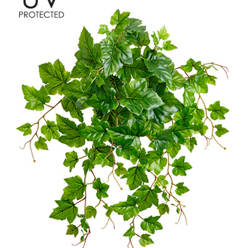 "19"" UV Protected PVC Grape Leaf Bush x 30"